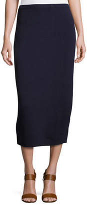 Eileen Fisher Plus Size Washable Silk/Cotton Midi Pencil Skirt