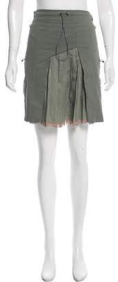 Tim Coppens Pleated Knee-Length Skirt
