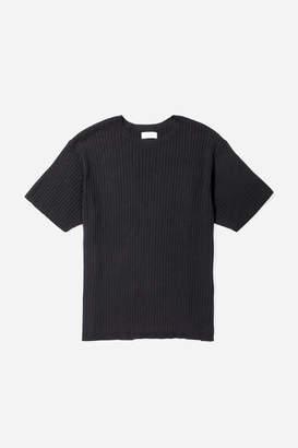 Saturdays NYC Pacho Split 5x2 Short Sleeve Sweater