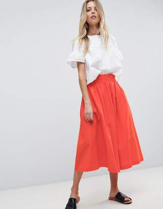 Asos Tailored Linen Prom Skirt
