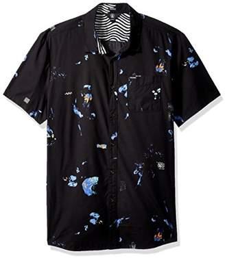 Volcom Men's Oblivion Button up Short Sleeve Shirt