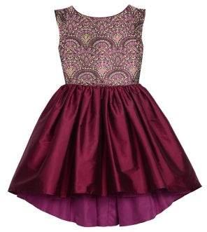 Badgley Mischka Belle By Girl's Jacquard Bodice Fit & Flare Dress