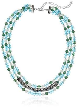 Napier Women's -Colored Beaded row Necklace