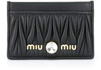 Miu Miu Matelassé leather card holder