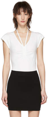Alexander Wang Off-White Compact Ruched Bodysuit