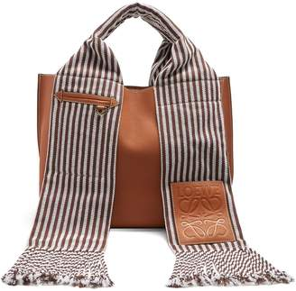 Scarf leather tote
