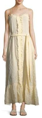 Lisa Marie Fernandez Ruffle Slip Maxi Dress