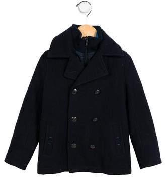 HUGO BOSS Boss by Boys' Wool Layered Coat