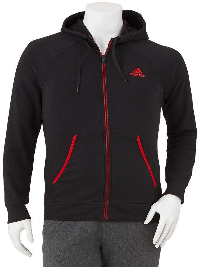 adidas everyday fleece hoodie - big & tall