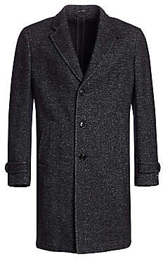 Ermenegildo Zegna Men's Herringbone Wool, Silk& Cashmere Top Coat