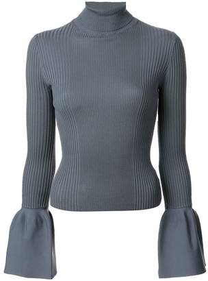 Alexander Wang ribbed flared sleeve turtleneck