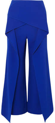 Roland Mouret Caldwell Layered Crepe Wide-leg Pants - Blue