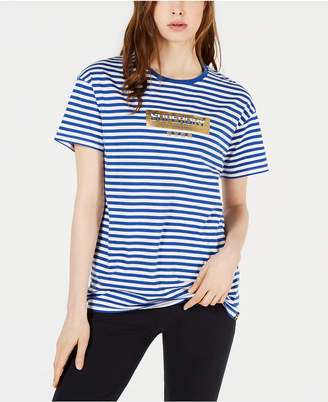 Superdry Striped Cotton Graphic T-Shirt