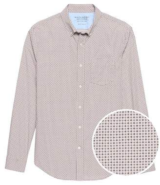 Banana Republic Grant Slim-Fit Luxe Poplin Print Shirt
