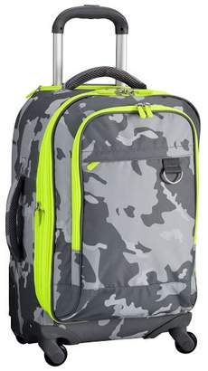 Pottery Barn Teen Getaway Gray Camo Carry-On Spinner, 22&quot