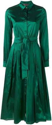 Max Mara belted long-sleeved dress
