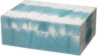 """Jamie Young 10"""" Tie Dye Box - Sky Blue"""