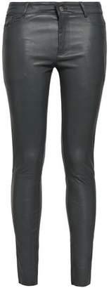 Muu Baa Muubaa Textured-leather Skinny Pants