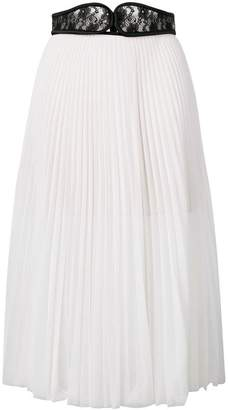 18e005d0d6 Christopher Kane lace crotch pleated skirt