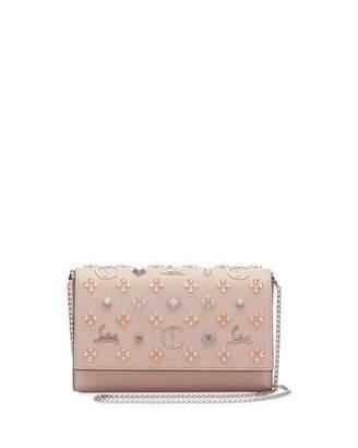 018cff86fc4 Christian Louboutin Paloma Fold-Over Embellished Clutch Bag