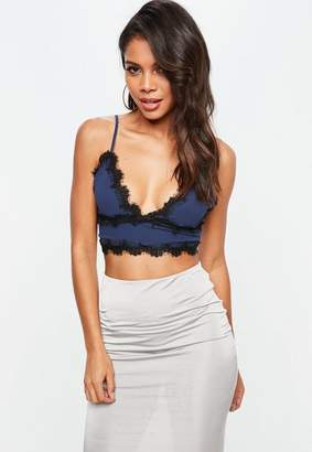 Missguided Lace Trim Bralet