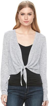 Women's Apt. 9® Striped Tie-Front Crop Cardigan $30 thestylecure.com