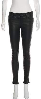 Genetic Los Angeles Mid-Rise Leather Pants