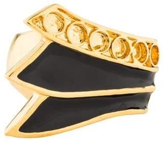 Kara Ross Kara by Black Enamel Cocktail Ring
