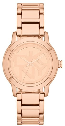 DKNY 'Tompkins' Round Logo Dial Bracelet Watch, 32mm