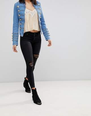 Free People Shark Bite Skinny Jeans