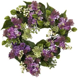 Nearly Natural nearly natural 20-in. Silk Hanel Lilac Wreath