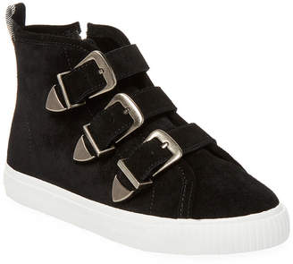 Burberry Buckle Accented Suede Sneaker