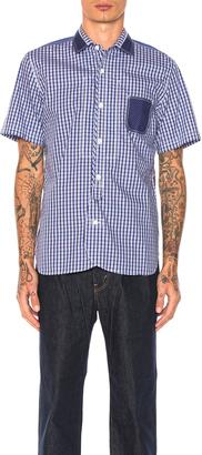 Junya Watanabe Cotton Tartan Check & Cotton Stripe Shirt $444 thestylecure.com