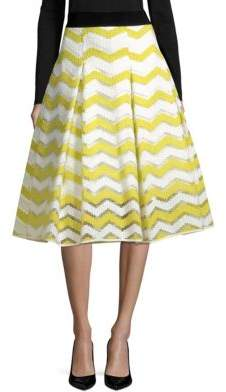37e53fbbda Milly Chevron Inverted Pleat Skirt