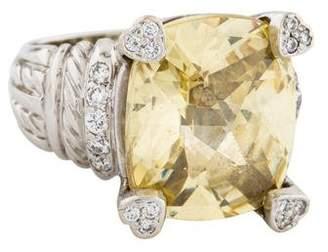 Judith Ripka 18K Canary Crystal & Diamond Lola Ring