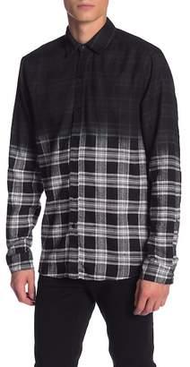 nANA jUDY Central Ombre Plaid Modern Fit Shirt