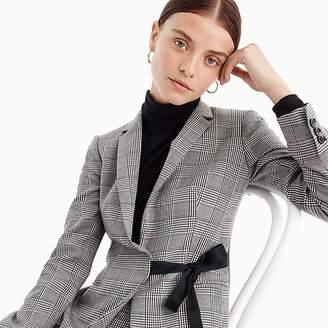 J.Crew Tie-front blazer in lady glen plaid
