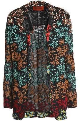 Missoni Metallic Embroidered Crochet-Knit Jacket