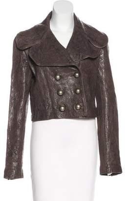 Thomas Wylde Leather Double-Breasted Jacket