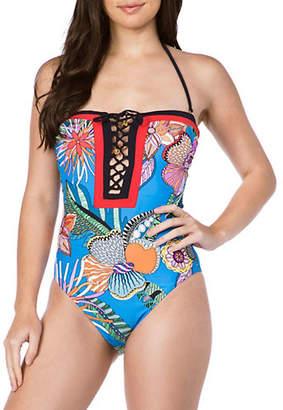 Trina Turk Bandeau One-Piece Swimsuit