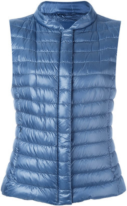 Herno quilted gilet $440 thestylecure.com