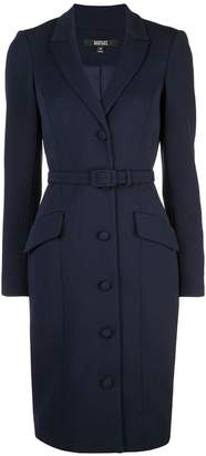 Badgley Mischka belted fitted dress
