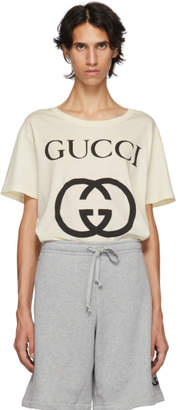 Gucci White New Logo T-Shirt