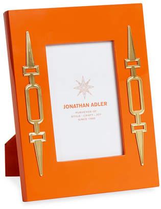 """Jonathan Adler Turner Lacquer Picture Frame, Orange, 4"""" x 6"""""""