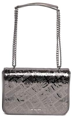 Love Moschino Embossed Metallic PU Shoulder Bag