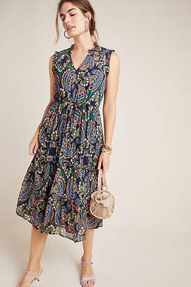 Anthropologie Elmira Ruffled Midi Dress