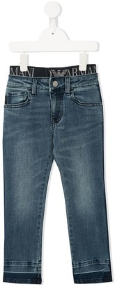Emporio Armani Kids elasticated-waist jeans