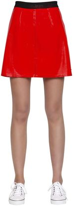 Kiti Faux Patent Leather Mini Skirt $133 thestylecure.com