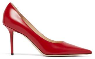 Jimmy Choo Love 85 Leather Pumps - Womens - Red