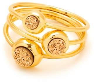 Gorjana Astoria Druzy Ring - Set of 3 - Size 6